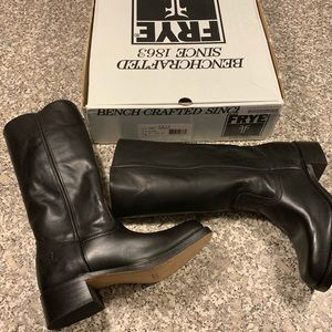 Frye black boots new in box unworn size 9.5